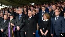 Các nhà lãnh đạo thế giới và các giới chức dự lễ tưởng niệm 100 vụ thảm sát người Armenia