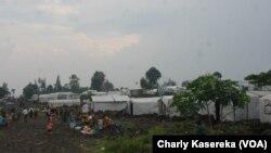 Camp de déplacés de MUGUNGA 3, près de Goma en RDC, le 12 mars 2015.