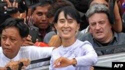 Líder da oposição birmanesa e Nobel da Paz, Aung San Suu Kyi.