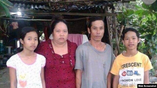Sự việc liên quan tới gia đình em Nguyễn Mai Thảo Vy (ngoài cùng bên trái) rộ lên hồi tháng Tư vừa qua trong vụ phản kháng cưỡng chế đất đai ở huyện Thạnh Hóa, Long An.