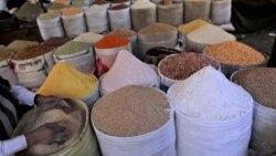 A spice seller in Yemen