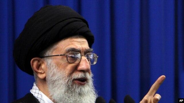 Shugaban addinin kasar Iran kennan, Ayatollah Ali Khamenei. (AP photo/Hasan Sarbakhshian/file)