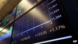 Пад на берзите во Азија