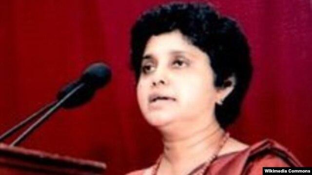 Ketua Mahkamah Agung Sri Lanka ke-43, Hon. Dr. Shirani A Bandaranayake (Foto: dok). Shirani Bandaranayake, perempuan pertama yang memangku jabatan ini di Sri Lanka, telah membantah tuduhan pelanggaran finansial yang diajukan sejumlah partai yang berkuasa di negara itu untuk menyingkirkannya dari jabatan.