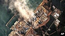 2011年3月14日在日本發生的地震和海嘯﹐嚴重破壞位於福島的核電站。(資料圖片)