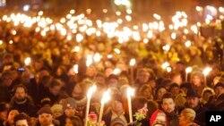 Li Copenhagen rêzgirtin li qûrbaniyên êrîşên terorîstî