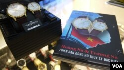 Watches made by Switzerland's Candino proclaim that the Paracel and Spratly islands belong to Vietnam, though China claims them, too.