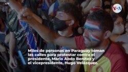Paraguay: Miles de personas se manifiestan para exigir la renuncia de Mario Abdo Benítez