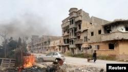 Combats à Benghazi, Libye, le 28 février 2016.