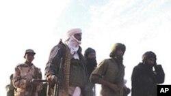 Des rebelles du MNLA se regroupant dans un endroit non identifié