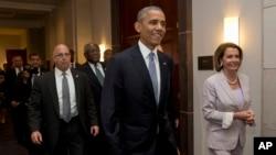 Presiden Barack Obama hadir di Gedung DPR AS, Capitol Hill, Washington DC hari Jumat (12/6).