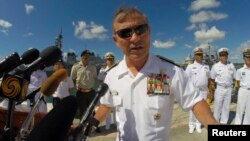 Viên tướng cao cấp nhất của Mỹ ở Thái Bình Dương, Đô đốc Harry Harris, người vừa yêu cầu Trung Quốc ngưng ngay việc xây đảo nhân tạo ở Biển Đông.