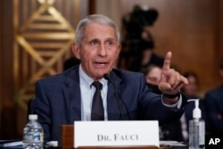 FILE - Top infectious disease expert and President Biden's chief medical adviser Dr. Anthony Fauci testifies before a Senate committee, on Capitol Hill in Washington, July 20, 2021.