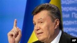 烏克蘭前總統亞努科維奇 (資料圖片)