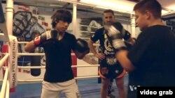 Entrainement de boxe.
