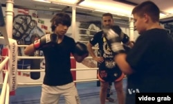 Sadiq, a 16-year-old migrant from Afghanistan, would one day like to be Austria's new Thai-style boxing champion.