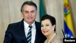 """La embajadora designada por Guaidó en Brasil, María Teresa Belandria,calificó el anuncio como""""una extraordinaria noticia""""."""