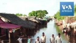 Les rues inondées de Marovoay après de fortes pluies