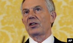 British former Prime Minister Tony Blair holds a press conference at Admiralty House, London, July 6, 2016.