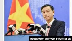 Phó phát ngôn viên Bộ Ngoại giao Việt Nam Dương Hoài Nam.
