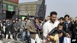Scène de l'attentat à Kaboul (6 décembre 2011)