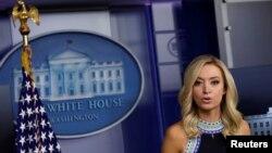 Bà Kayleigh McEnany trong một cuộc họp báo ở Nhà Trắng hôm 24/9.