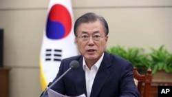 资料照:韩国总统文在寅