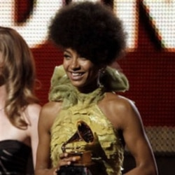 Esperanza Spalding accepts the Grammy for best new artist