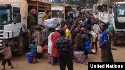 Wakimbizi wa Burundi katika kambi iliyopo hukoTanzania.
