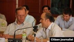 2014年3月11日老撾政府曾為棟沙洪大壩開研討會。(資料照)