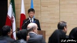 کوبایاشی سفیر ژاپن در ایران در مراسم اهدای کمک سه میلیون دلاری ژاپن به فائو برای نجات دریاچه ارومیه
