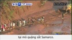 Tìm kiếm nạn nhân sau vụ vỡ đập ở mỏ Samarco (VOA60)