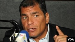 El presidente Rafael Correa dijo que en algún momento se tenía que empezar a rechazar con firmeza situaciones absolutamente intolerables.