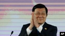 在马尼拉出席亚太经合组织会议的越南国家主席张晋创(2015年11月17日)