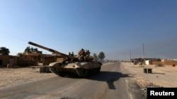 Pripadnici šiitske milicije u okolini Tikrita