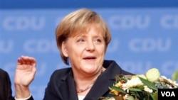 Kanselir Jerman, Angela Merkel. Meski dipimpin seorang perempuan, Jerman masih sedikit memberikan kesempatan bagi perempuan untuk menjabat pimpinan di perusahaan.