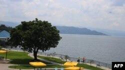 Une vue générale de l'hôtel Serena à Goma le 16 octobre 2020.