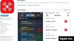 Aplikasi ponsel Red Alert memberitahu warga Israel tentang serangan roket.