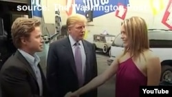FILE - YouTube screen grab from video obtained by The Washington Post of lewd conversation about women between Donald Trump and Billy Bush.
