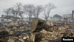 Un quartier de New York où l'ouragan a provoqué plusieurs incendies