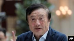 华为创始人任正非在华为深圳总部接受媒体采访(2019年1月15日)