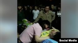 Hình nạn nhân Phạm Đặng Toàn và người thân (chụp từ video trên Facebook Tham Nguyen)