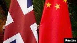 資料照:英國和中國國旗