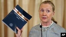 La secretaria de Estado, Hillary Clinton, rindió el informe anual de EE.UU. sobre tráfico humano en el mundo