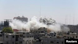 Faixa de Gaza a 1 de Agosto, 2014.