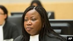 Fatou Bensouda, procureure à la Cour pénale international, 10 février 2014.