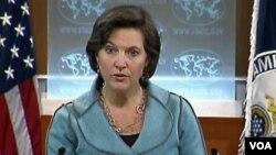 Jurubicara Departemen Luar Negeri AS, Victoria Nuland menyatakan keprihatinan pemerintah AS atas hukuman terhadap 3 blogger di Vietnam.