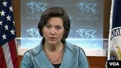 Jurubicara Departemen Luar Negeri AS, Victoria Nuland menyambut baik undangan Burma.
