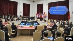 19일 캄보디아 프놈펜에서 열린 동남아시아국가연합(ASEAN) 정상회의.