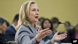ລັດຖະມົນຕີການຕ່າງປະເທດສະຫະລັດ ທ່ານນາງ Hillary Clinton (29 ກຸມພາ 2012)
